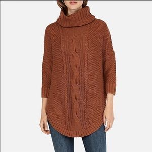 Express Cowl Neck Cable Knit Sweater